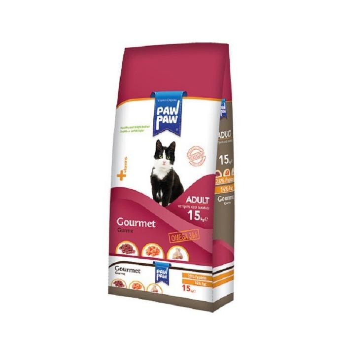 غذا خشک گربه بالغ گورمت پاو پاو  - 1.5 كيلوگرم
