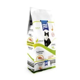غذا خشک گربه بالغ عقیم شده با طعم سالمون پاو پاو  - 1.5 كيلوگرم