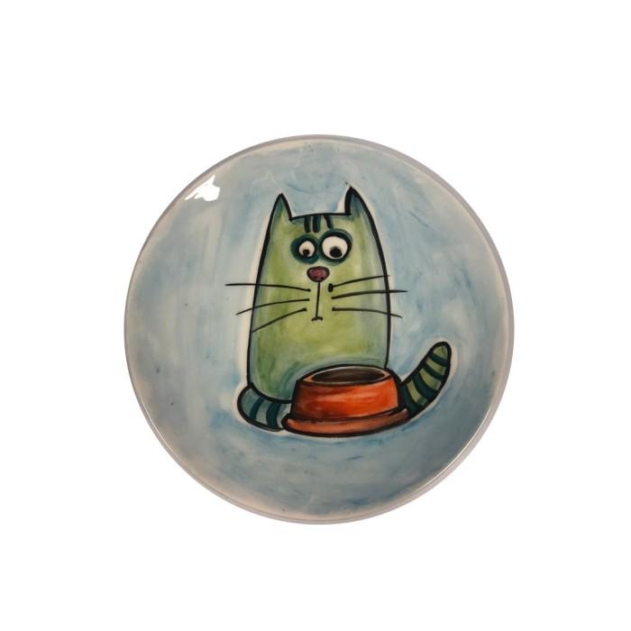 ظرف غذای سرامیکی طرح گربه پرس پت