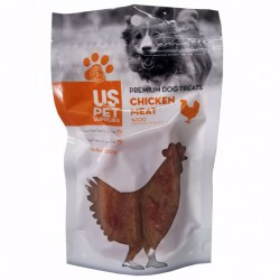 تشویقی سگ مدل استیک نواری گوشت مرغ  یو اس پت - 100 گرم