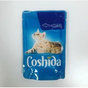 پوچ مخصوص گربه با طعم ماهی قزل آلا در سس اسفناج کوشیدا