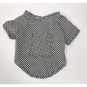 لباس چهارخونه سفید و  سیاه پرس پت - مدیوم