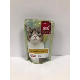 پوچ مخصوص گربه با طعم غاز در سس Dein Bestes
