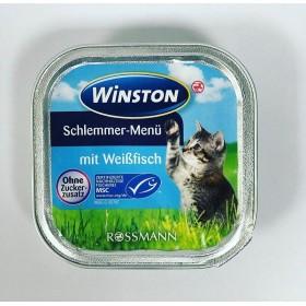 ووم  با طعم ماهی سفید وینستون -100 گرم