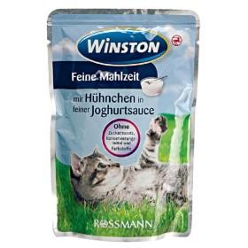پوچ مخصوص گربه با طعم مرغ در سس ماست وینستون