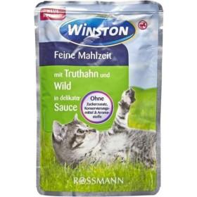 پوچ مخصوص گربه با طعم بوقلمون و گوشت شکار در سس  وینستون