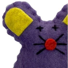 عروسک نمدی کت نیپ دار پرس پت - موش