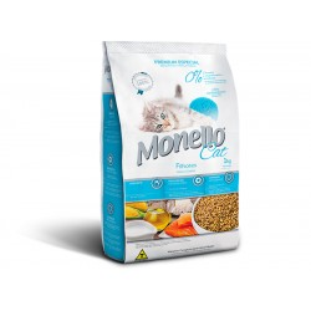 غذا خشک بچه گربه بالغ با طعم سالمون مونلو  - 1كيلوگرم