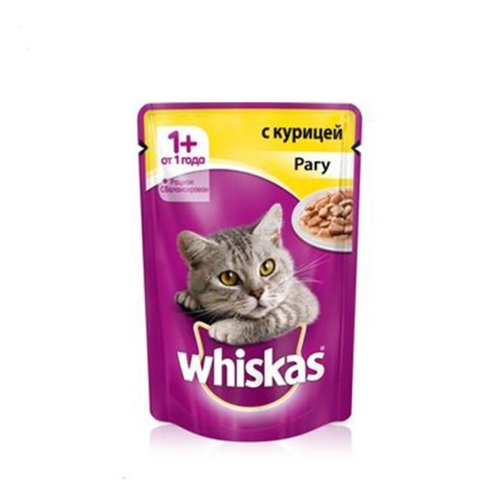 پوچ مخصوص گربه بالغ  با طعم مرغ  در سس ویسکاس