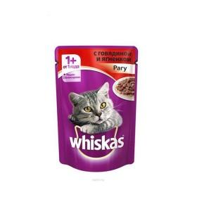 پوچ مخصوص گربه بالغ  با طعم بره در سس ویسکاس