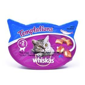 تشویقی تکه ای گربه با طعم سالمون  ویسکاس - 60 گرم
