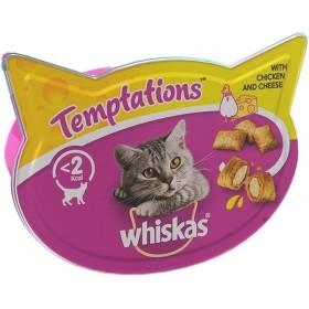 تشویقی تکه ای گربه با طعم مرغ و پنیر ویسکاس - 60 گرم