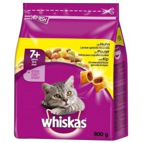 غذا خشک گربه بالغ بالای 7 سال با طعم مرغ ویسکاس - 800 گرم