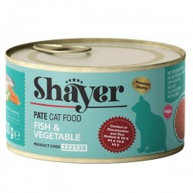 کنسرو گربه پته با طعم ماهی و سبزیجات شایر - 200 گرم