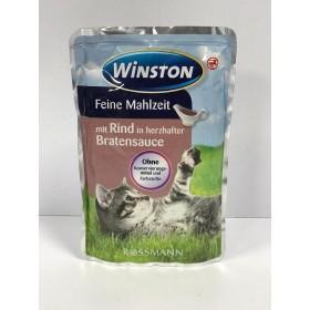پوچ مخصوص گربه با طعم گوشت گاو در سس گوشت وینستون