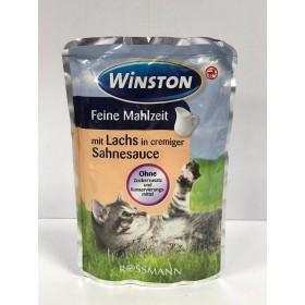 پوچ مخصوص گربه با طعم سالمون در سس خامه وینستون