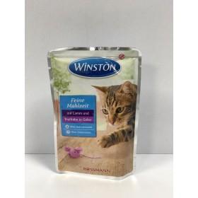 پوچ مخصوص گربه با طعم گوشت بره و بوقلمون در ژله وینستون
