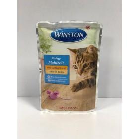 پوچ مخصوص گربه با طعم گوشت مرغ و جگر در ژله وینستون