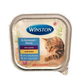 ووم مخصوص گربه با طعم گوشت مرغ و بره وینستون - 100 گرم