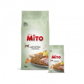غذا خشک مخصوص گربه با طعم مرغ  میتو - 1 کیلوگرم