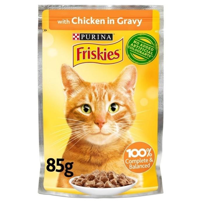 پوچ مخصوص گربه بالغ با طعم مرغ  فریسکیز