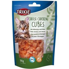 تشویقی گربه مدلcheese chicken cubes تریکسی - 50 گرم