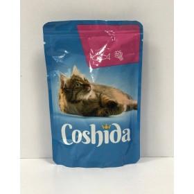 پوچ مخصوص گربه با طعم قزل آلا درسس اسفناج کوشیدا