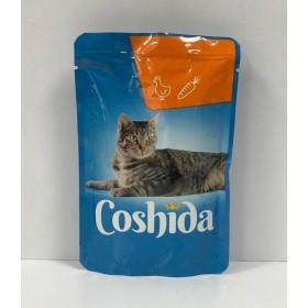 پوچ مخصوص گربه با طعم مرغ درسس هویج کوشیدا
