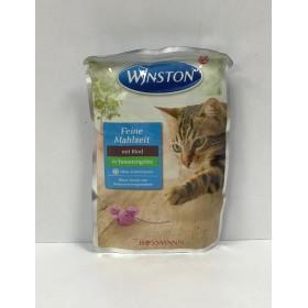 پوچ مخصوص گربه با طعم گوشت در ژله گوجه فرنگی وینستون