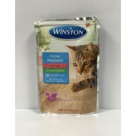 پوچ مخصوص گربه با طعم سالمون در ژله هویج وینستون