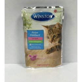 پوچ مخصوص گربه با طعم گوشت در ژله هویج وینستون