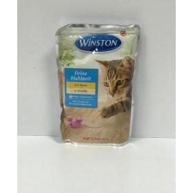 پوچ مخصوص گربه با طعم مرغ  و تخم مرغ وینستون