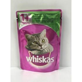 پوچ مخصوص گربه بالغ  با طعم گوشت و هویج ویسکاس