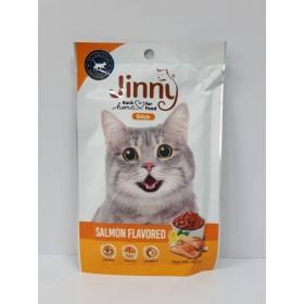 تشویقی گربه با طعم سالمون جرهای جینی - 35 گرم