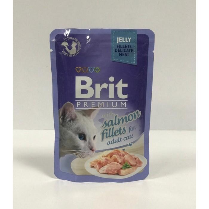 پوچ مخصوص گربه بالغ  با طعم سالمون بریت -85 گرم