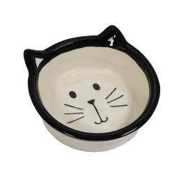 ظرف سرامیکی آب و غذا طرح گربه پرس پت - متوسط