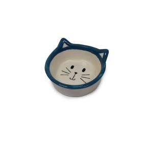 ظرف سرامیکی آب و غذا طرح گربه پرس پت - کوچک