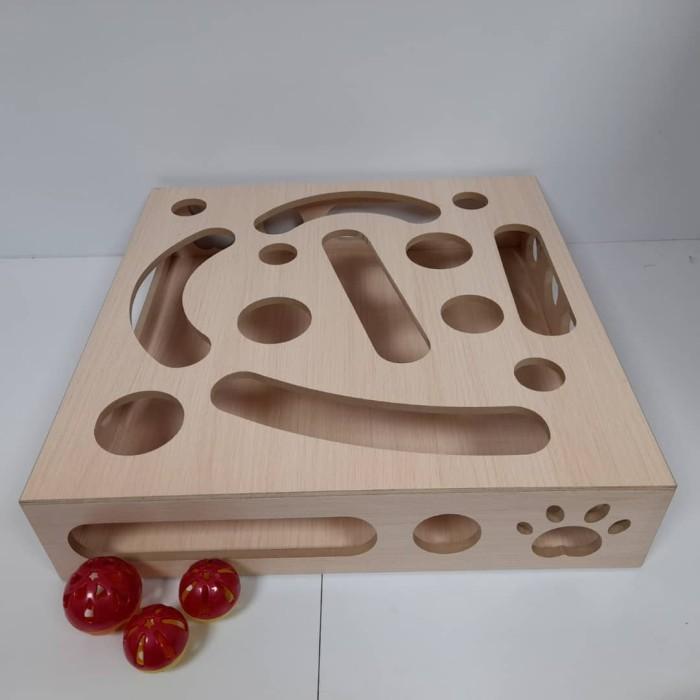 اسباب بازی گربه - پازل چوبی